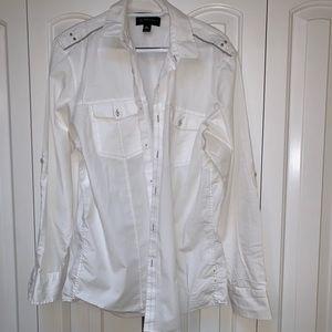 INC. White Button Down Shirt